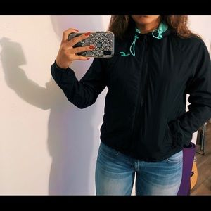 Black and turquoise WINDBREAKER
